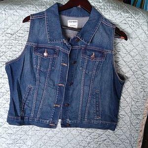 Brand new extra large jean vest